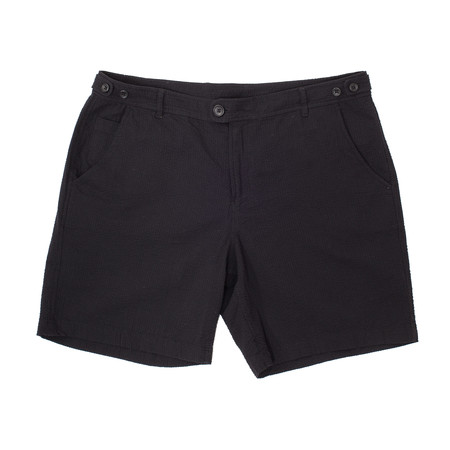 Corridor Seersucker Shorts - Black