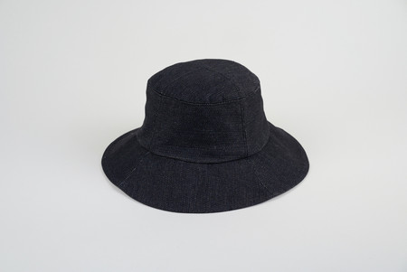Clyde Bucket Hat in Black Denim