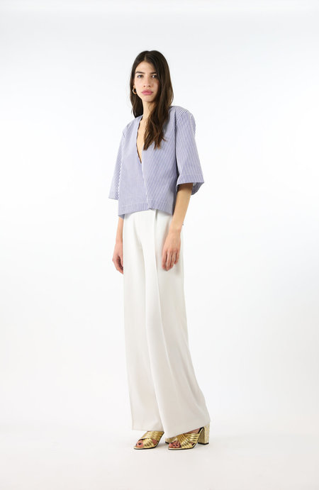 Toit Volant Poppy Top - Blue/White