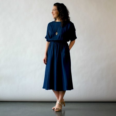 Curator Etta Dress in Mariner