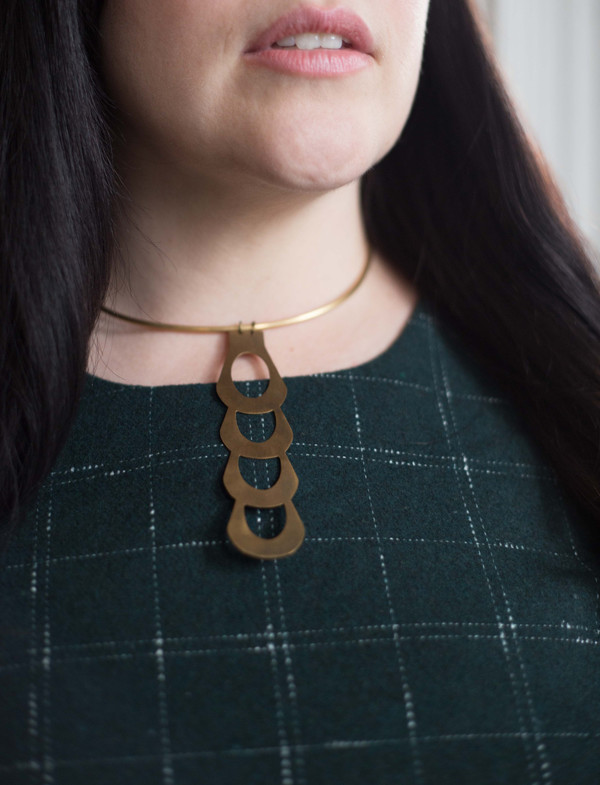 Layers of Earth Clover Collar