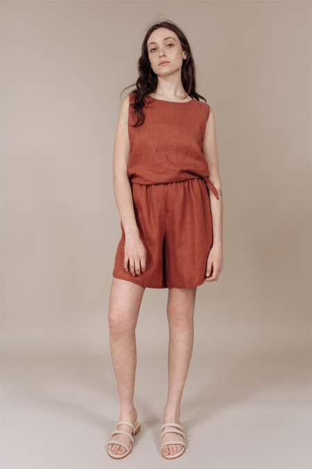 Priory Gao Short in Terracotta