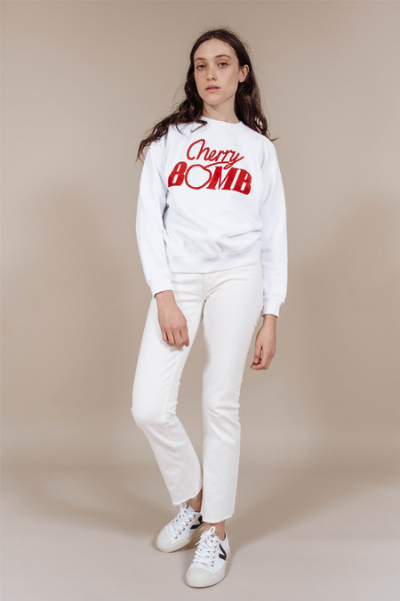 Ganni Jefferson Isoli Sweatshirt in Cherry Bomb