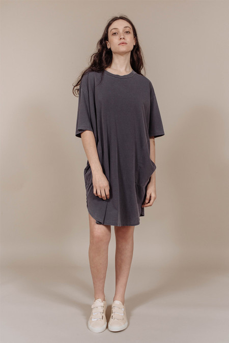 Calder Kassia Tee Shirt Dress in Charcoal
