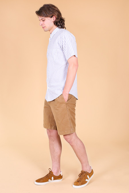 Billy Reid Clyde Short In Dark Tan