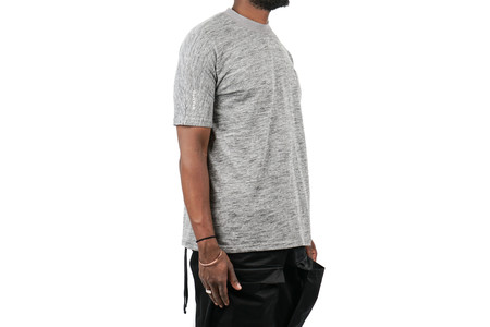 "Stampd Mock Neck Pocket Tee ""Grey"""