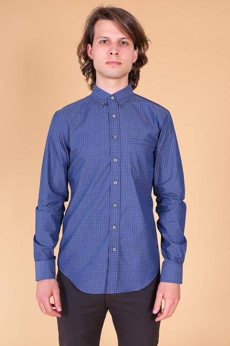 Outclass Pin Dot Long Sleeve Shirt In Navy