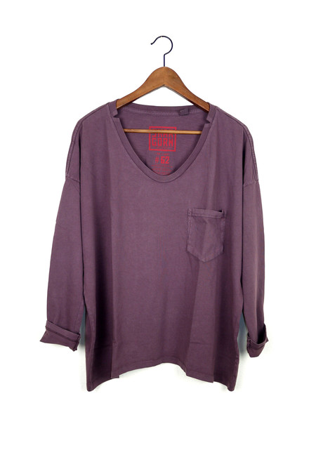 Skargorn #62 Long Sleeve Tee, Raisin Wash