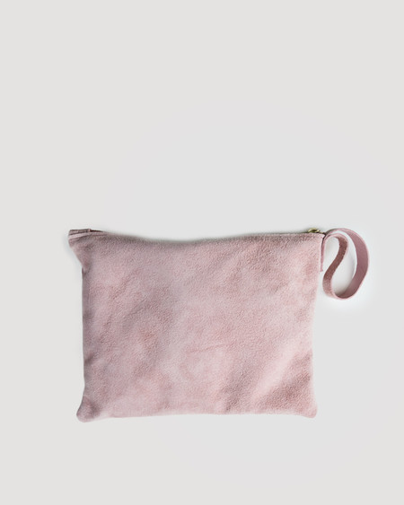 ESBY CLUTCH - BLUSH SUEDE