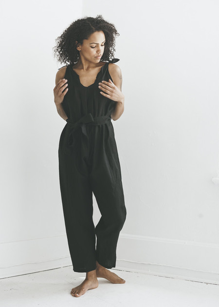 Ozma Saguaro Romper in Black