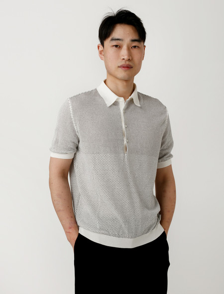 Lemaire Short Sleeve Polo Sweater
