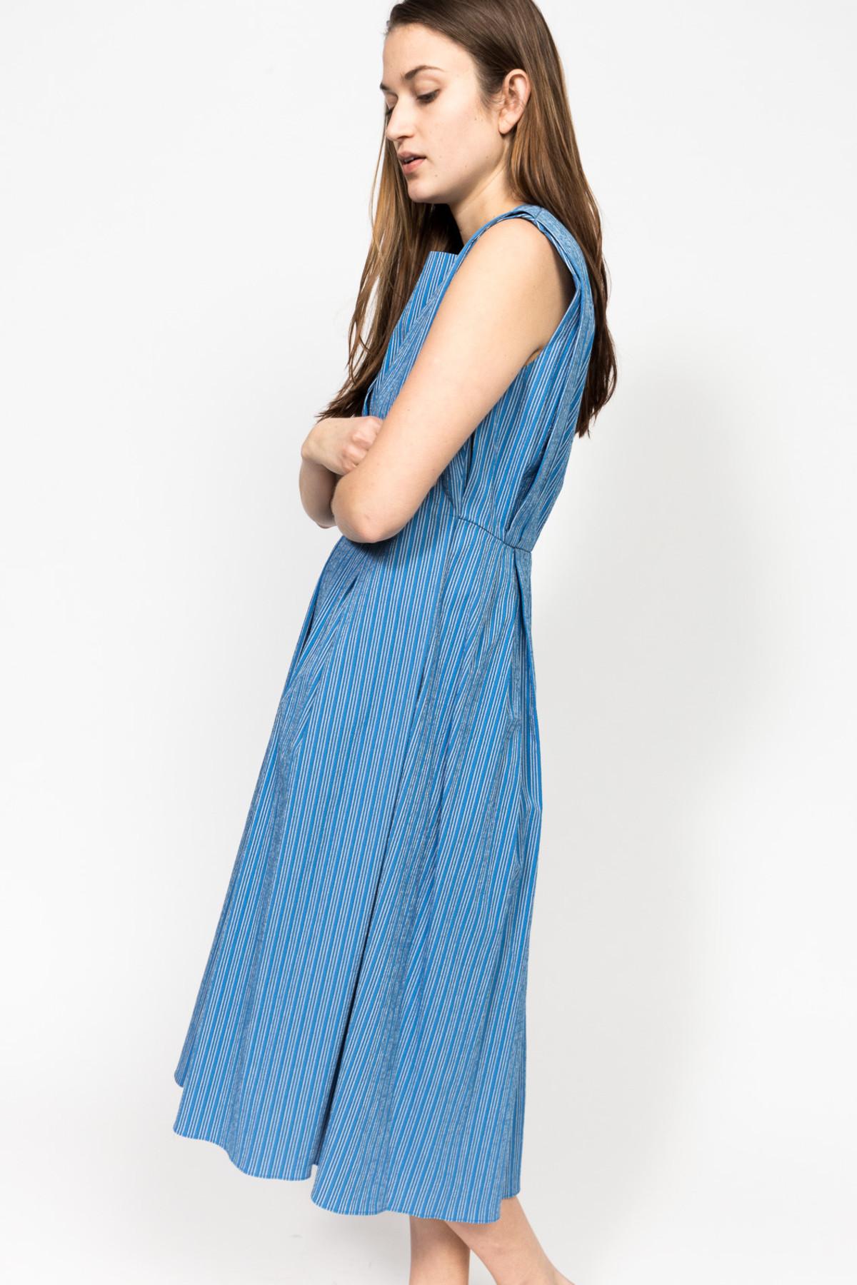 Trademark Shadow Stripe Tie Dress | Garmentory
