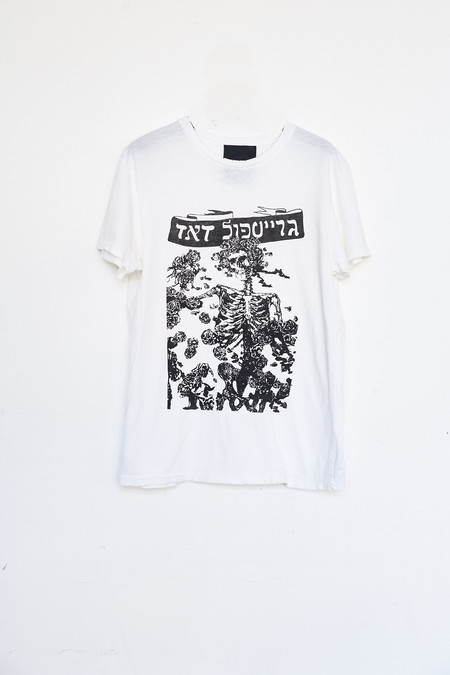 Unisex Assembly New York Cotton Dead T-Shirt - White