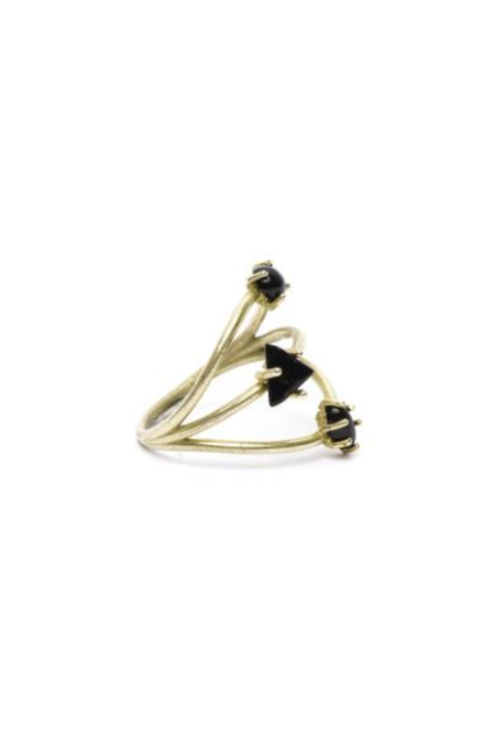 I Like It Here Club Constellation Ring, Black Onyx/Gold
