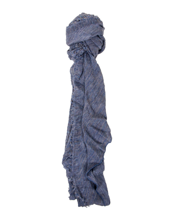 Grisal Arena 100% Ramie Scarf in Faded Denim