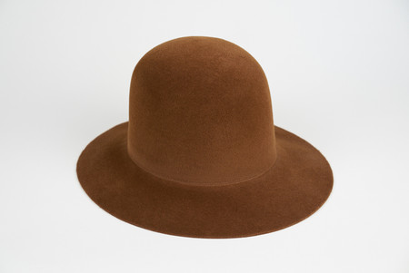 Clyde Dome hat in Brandy Angora