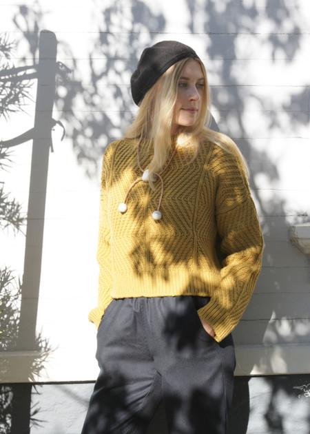 Micaela Greg Bevel Sweater - Ochre