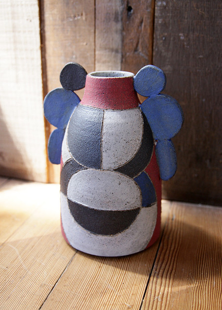 Zoe Dering Patchwork Vase - With Wings