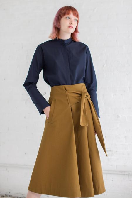 Studio Nicholson Benito Skirt in Carob