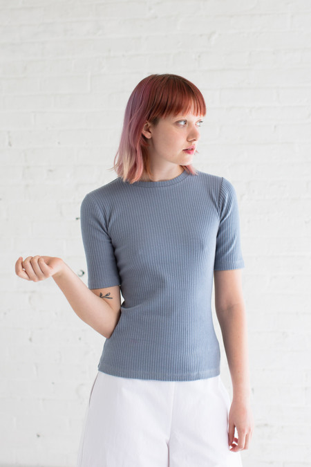 Delfina Balda Inga Knit Top in Sky