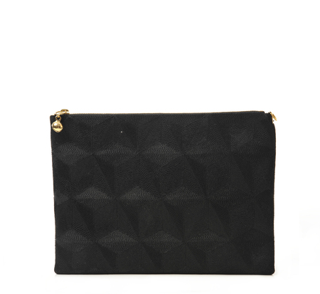 Anne Grand-Clément Plain Black Extra Medium Pouch