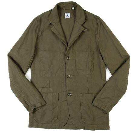 Arpenteur Villefranche Jacket - Olive Plain Weave Linen