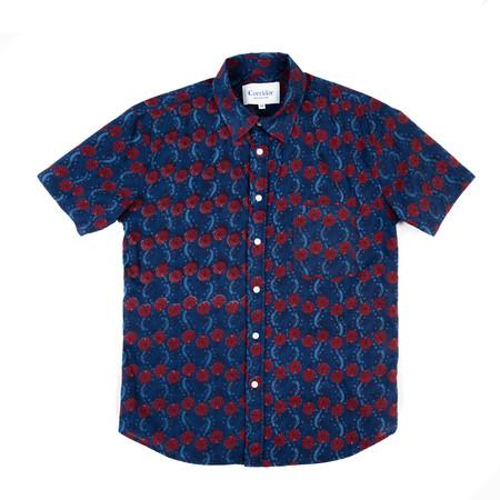Corridor Short Sleeve Woven Shirt - Handblock Hawaiian Print