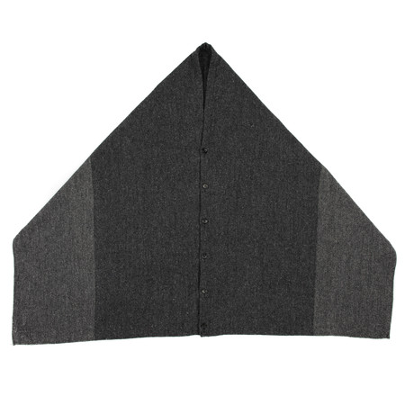 Engineered Garments Button Shawl - Grey 2 Tone Wool Herringbone
