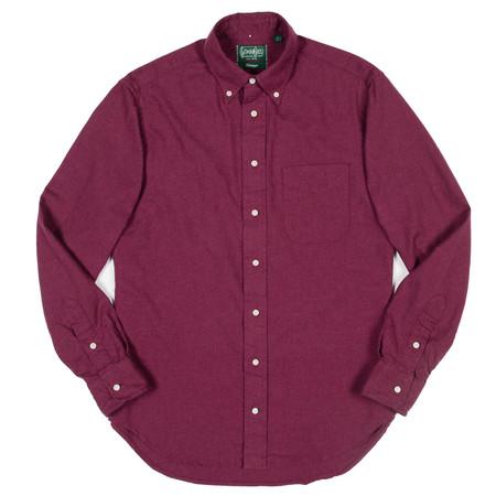 Gitman Vintage Gitman Button-Down Shirt - Burgundy Flannel