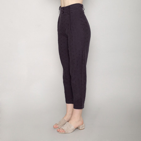 7115 by Szeki Linen Lantern Pants - Navy