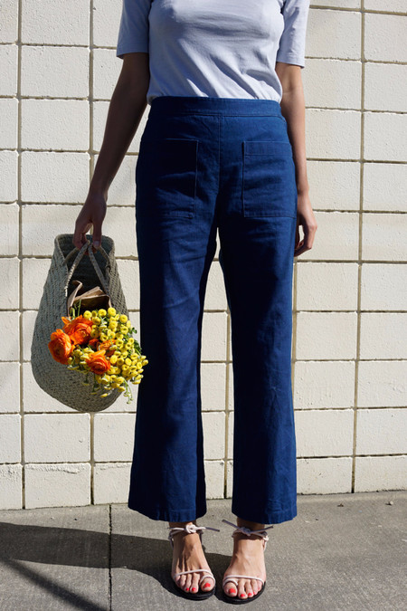 Waltz Indigo Patch Pocket Flares
