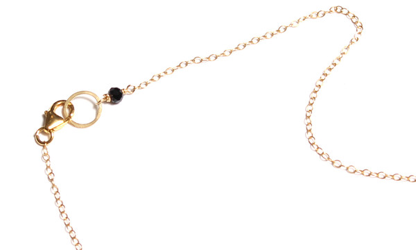 James and Jezebelle Black Onyx and Spinel Oval Pendent Necklace