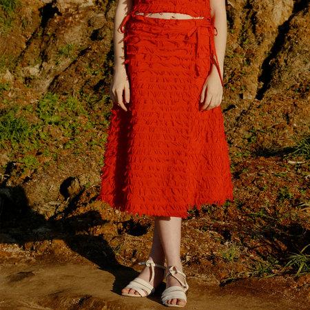 Nikki Chasin Jetty Wrap Skirt - Ruby Feather