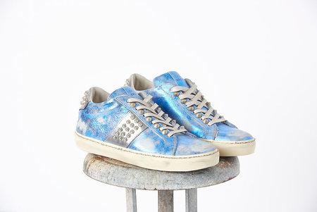 Leather Crown Stud Low Top Sneaker