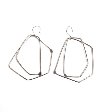 Gabrielle Desmarais Double Silver Element Earrings