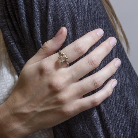 Sarah De Gasperis Raw Citrine Ring