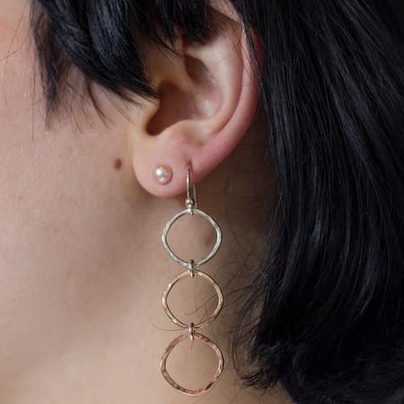 Mikel Grant Jewellery Trimetal Cube Earrings