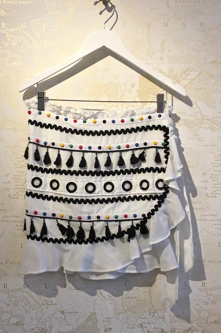 Dodo Bar Or 'Abigail' Colourful Ruffle Mini Skirt