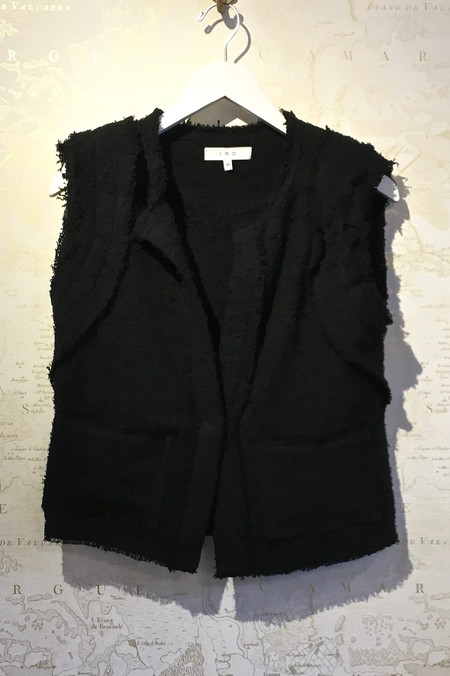 IRO 'Akia' Frayed Tweed Tailored Vest