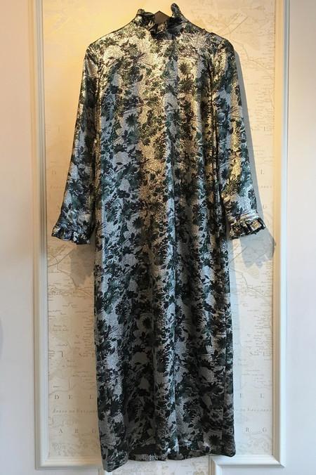 Roseanna Silver Long Sleeve Print Gown
