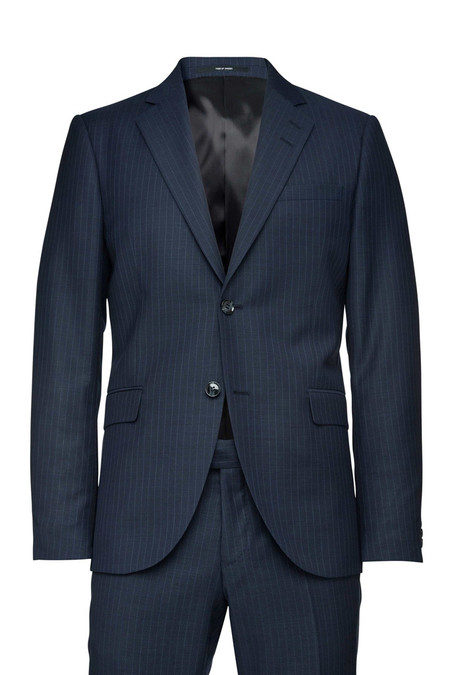 Tiger of Sweden Jil Suit - Blue Pinstripe