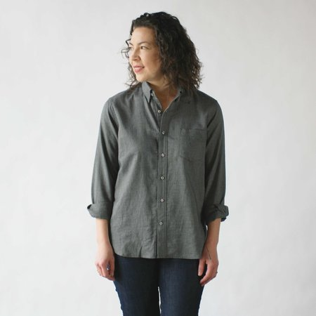 Eight and Sand Stone Twill Button Down