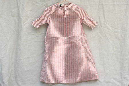 Kid's Pietsie Tangier Dress - Red Stripe Seersucker