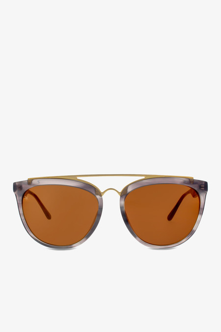 Smoke x Mirrors Volunteers sunglasses in grey bucolic with matte gold