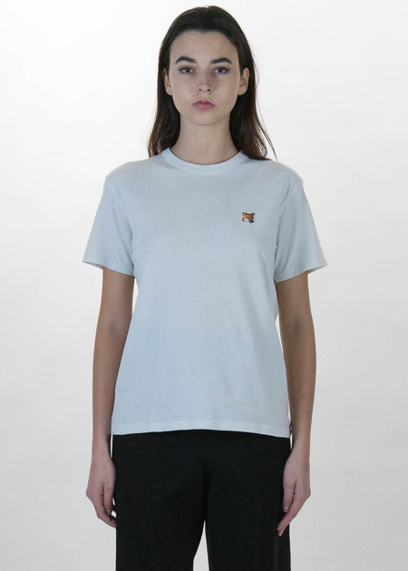 Maison Kitsune Grey Fox Head Patch T-Shirt