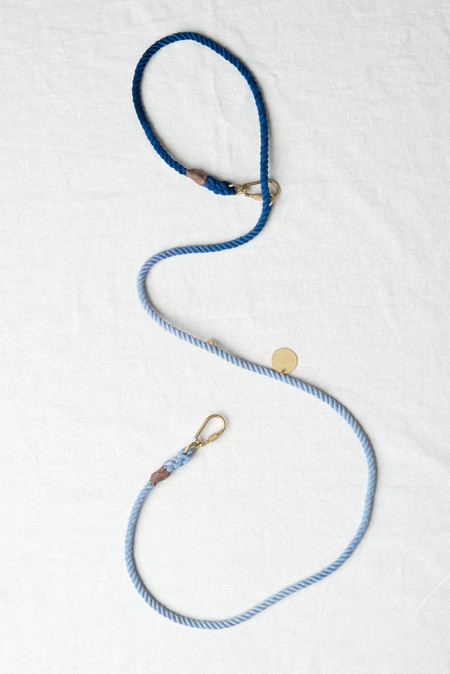 Found My Animal Medium Rope Leash In Blue Ombre