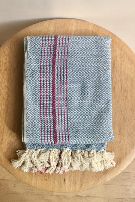 Mandalina Valenica Turkish Towel/Throw, blue