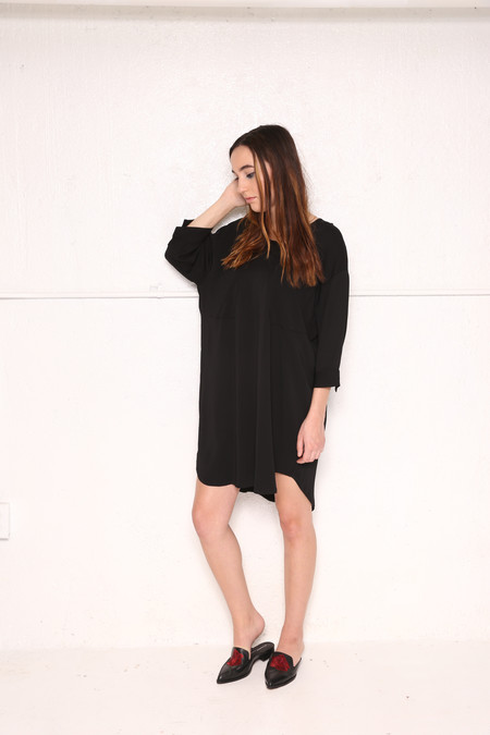 Intentionally Blank REN Shirt Dress in Black