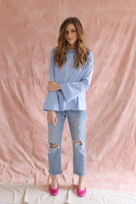 Just Female Barb Blouse Powder Blue