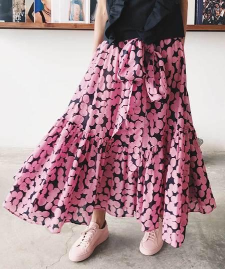 Creatures of Comfort Carmen Seersucker Dots Skirt